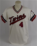 Jim Eisenreich 1982 Minnesota Twins Game Used Rookie Jersey w/Dave Miedema LOA