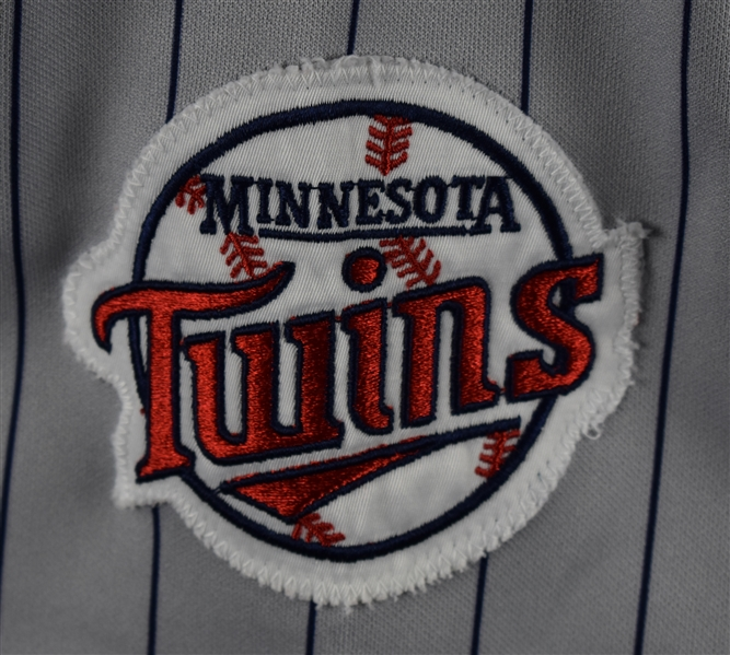 Kirby Puckett 1992 Minnesota Twins Game Used Jersey w/Dave Miedema LOA