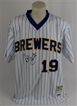Robin Yount Autographed Milwaukee Brewers Home Jersey