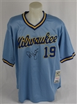 Robin Yount Autographed Milwaukee Brewers Road Jersey