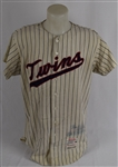 Al Worthington 1965 Minnesota Twins Game Used Jersey w/Dave Miedema LOA