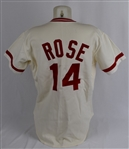 Pete Rose 1978 Cincinnati Reds Game Used & Autographed Jersey w/Dave Miedema LOA & Beckett