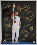 Muhammad Ali 16x20 Olympic Games Photo w/15 Signatures