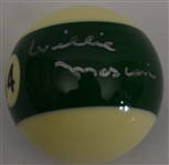Willie Mosconi Signed Billiards Pool Ball w/PSA/DNA & JSA LOA