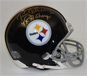 Rocky Bleier Autographed Pittsburgh Steelers Mini Helmet