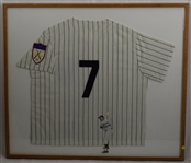 Mickey Mantle Autographed & Framed Jersey Display