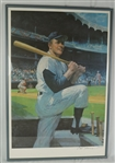 Mickey Mantle Autographed & Framed Limited Edition Lithograph