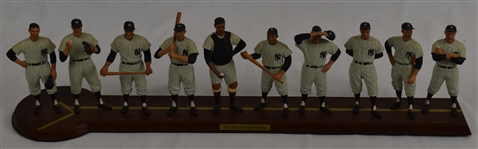New York Yankee 1961 World Series Champions Starting Line-Up Display w/Wood Base