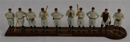 New York Yankee 1927 World Series Champions Starting Line-Up Display w/Wood Base