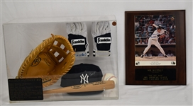 Don Mattingly Multi Autograph Display w/5 Signed Items