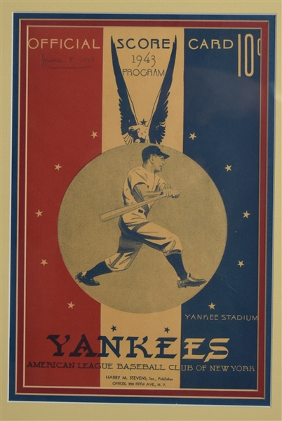 New York Yankee 1943 Program