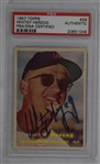 Whitey Herzog Autographed 1957 Topps Rookie Card PSA/DNA