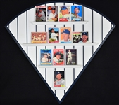 Mickey Mantle Collection of 12 Porcelain Cards 2/Display & 1952 Topps Rookie