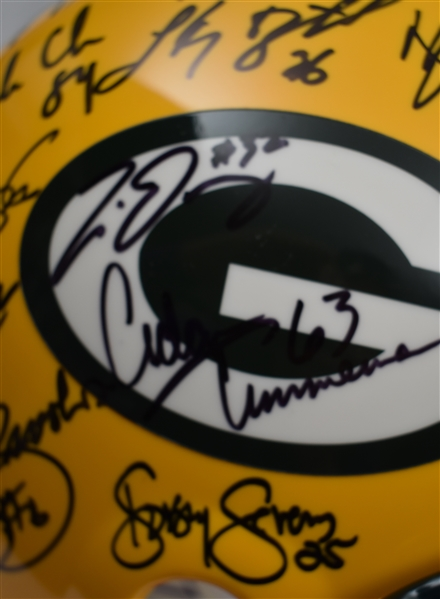 Green Bay Packers Super Bowl Championship Team Signed Helmet w/Brett Favre & Reggie White