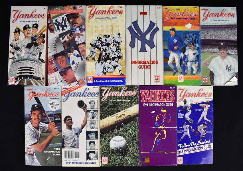 1984-1994 New York Yankee Information Guides