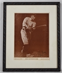 Ty Cobb Autographed Original Charles Conlon M114 Magazine Premium Framed Display PSA/DNA