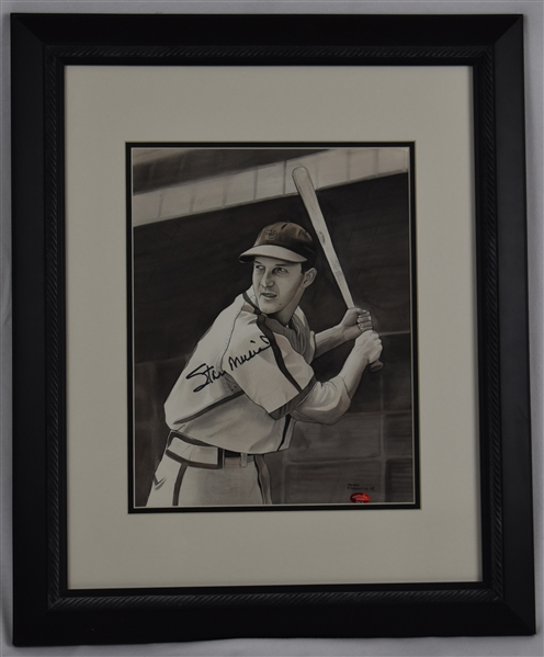 Stan Musial Original James Fiorentino Water Color Painting