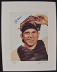 Yogi Berra Autographed James Fiorentino Limited Edition Lithograph