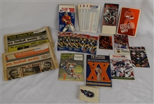 Football Publications w/All Pro Game Ballots