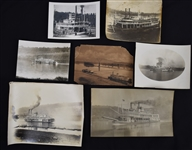 Vintage Collection of 7 Steamboat Photos