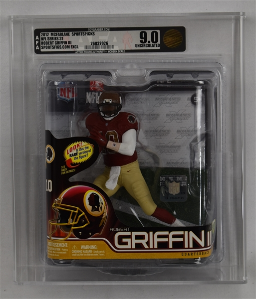 Robert Griffin III 2012 McFarlane NFL Series 31 Figure Professionally Graded AFA 9.0