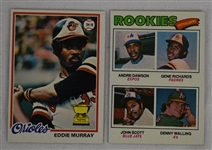 Andre Dawson 1977 & Eddie Murray 1978 Topps Rookie Cards