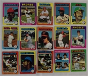 Collection of 15 Vintage 1975 Topps Cards w/Gary Carter Rookie