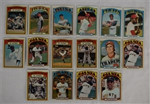 Collection of 16 Vintage 1972 Topps Cards w/Roberto Clemente