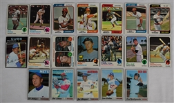 Collection of 19 Vintage 1970-74 Topps Cards w/Joe Morgan