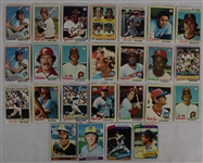 Collection of 25 Vintage 1978-80 Topps Cards w/Ozzie Smith Rookie