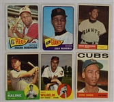 Collection of 6 Vintage 1961-65 Topps Cards w/Al Kaline & Ernie Banks