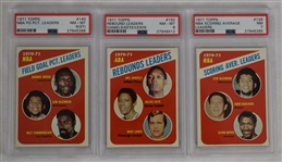 Collection of 3 Vintage 1971 Topps Basketball Cards PSA 7 NM & 8 NM-MT