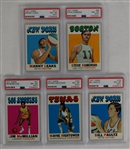Collection of 5 Vintage 1971 Topps Basketball Cards PSA 8 NM-MT