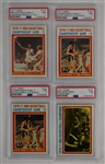 Collection of 4 Vintage 1971 Topps NBA Champions Basketball Cards PSA 7