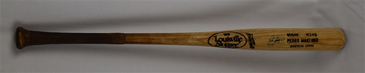 Pedro Martinez c. 1994-97 Autographed & Inscribed Montreal Expos Professional Model Bat w/Heavy Use