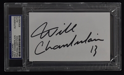 Wilt Chamberlain Signed Index Card PSA/DNA