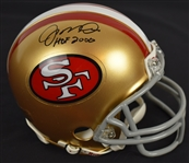Joe Montana Autographed & Inscribed SF 49ers Mini Helmet