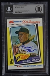Willie Mays Autographed K-Mart Card Beckett Authentication