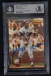 Hank Aaron Autographed Ted Williams Card Beckett Authentication