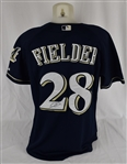 Prince Fielder Autographed Milwaukee Brewers Jersey