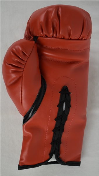 Ernie Shavers Autographed & Inscribed Red Boxing Glove