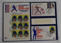 Nolan Ryan Autographed 1993 First Day Cover Collector Book
