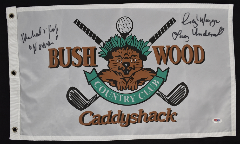 Caddyshack Autographed & Inscribed Bushwood Flag