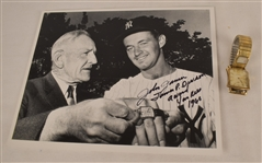 John James 1960 New York Yankees James P. Dawson Award Watch & Photo