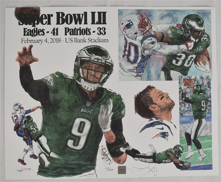 Philadelphia Eagles vs. New England Patriots Super Bowl LIII Litho