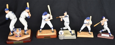 Mickey Mantle Collection of 5 Porcelain Figurines