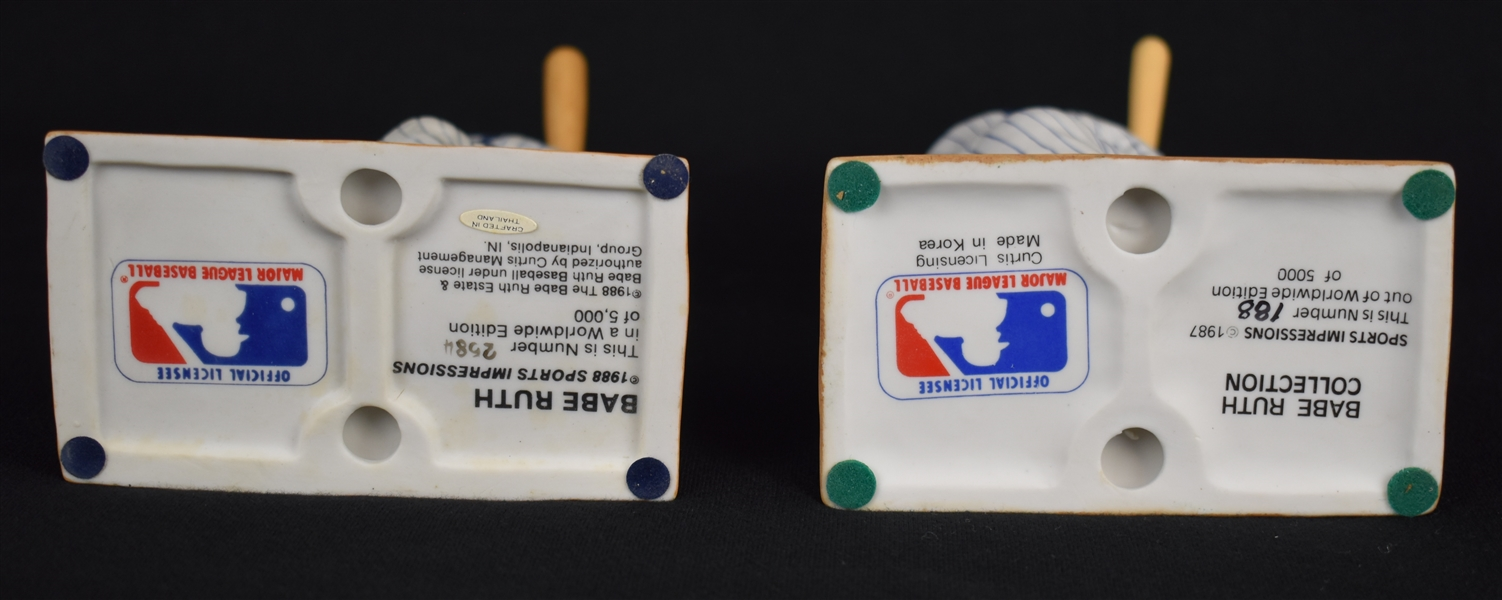 Babe Ruth Collection of 2 Porcelain Figurines