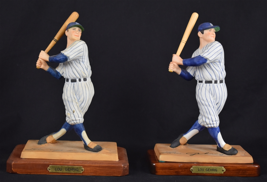 Lou Gehrig Collection of 2 Porcelain Figurines