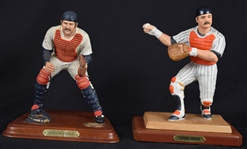 Thurman Munson Collection of 2 Porcelain Figurines