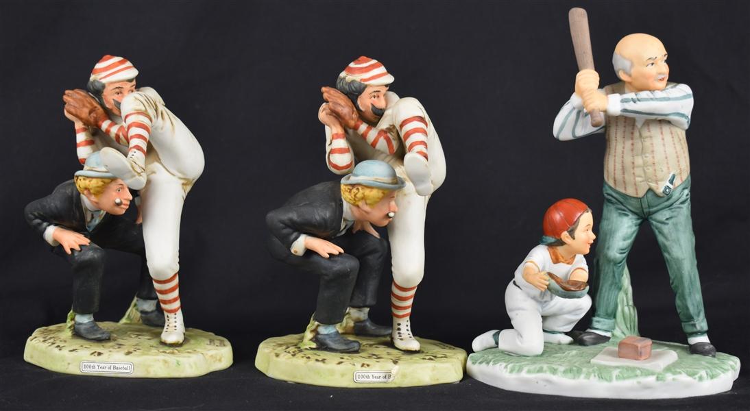 Norman Rockwell Collection of 3 Porcelain Figurines